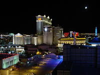 "Same view from the room, better picture. Apparently, the room we had was the one with the ""best view of the strip"" ..."