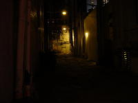 Evil alley you see in movies.