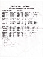 2005 Revised Vball Schedule